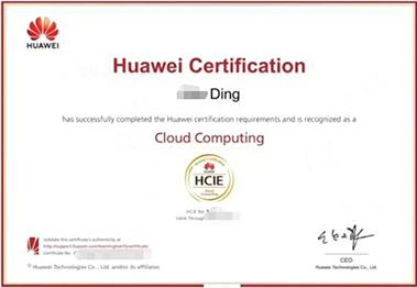 思博丁同学HCIE证书